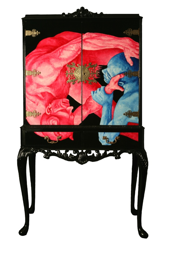 Inspiration for taking mod podge furniture to the next level  Decoupage Furniture  Upcycled