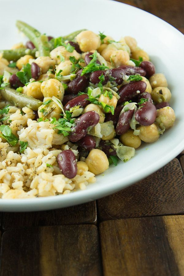 One of the best filling dishes--beans and rice. Try this twist with the Skinny Ms. Three Bean Rice Bowl Recipe.
