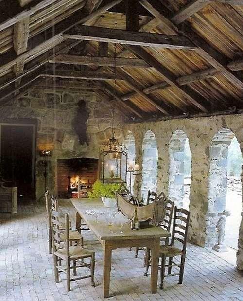 Exterior Dining   Home decor   Pinterest   Cottage