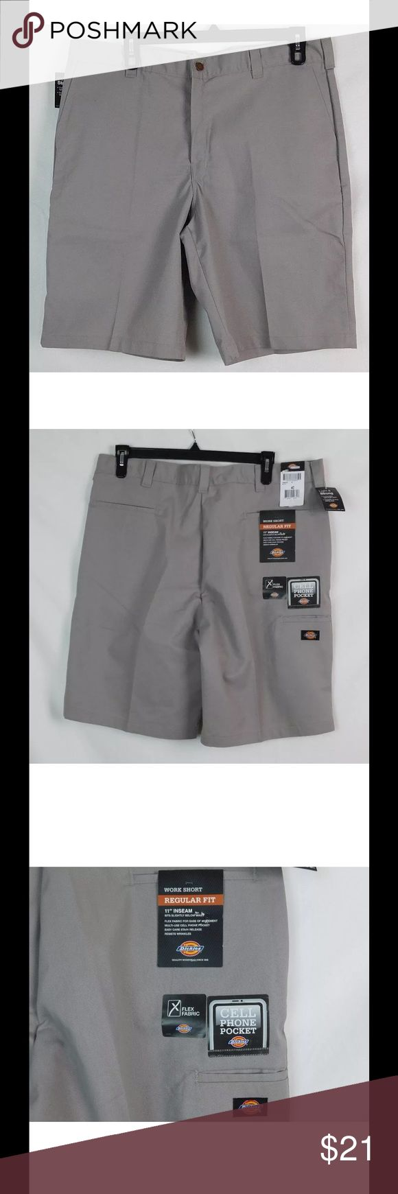 """Dickies Men's Work Shorts Size 30 Regular fit Dickies Men's Work Shorts Size 30 Regular fit color Gray size 30 x 11"""" inseam  actual waist measures 32"""" rise 10""""  35% cotton 65% polyester new with tags Dickies Shorts Cargo"""
