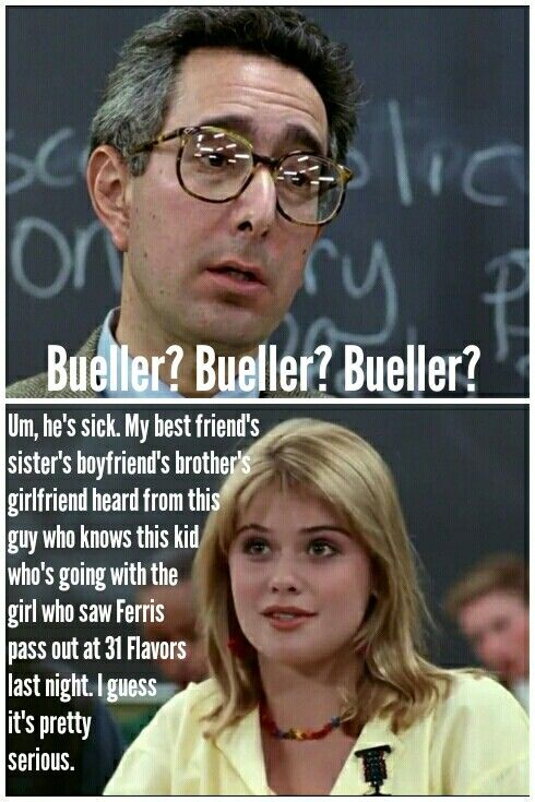 Ferris Bueller's Day Off {Featuring the delectable KRISTY SWANSON, the future BUFFY The Vampire Slayer}