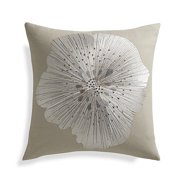 Bloom Frost 20' Pillow with Feather-Down Insert