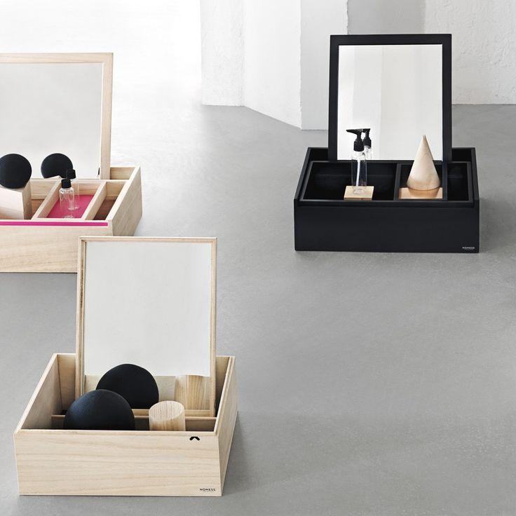 Nomess Copenhagen Balsabox Storage box with mirror Blue