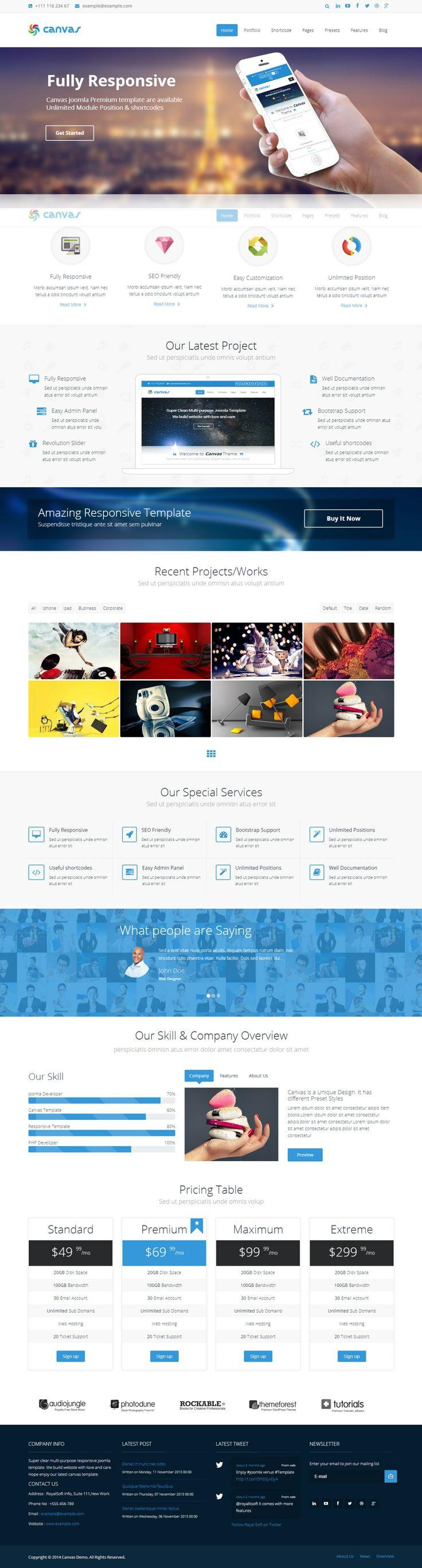 Best 60 Best Professional Joomla Website Templates images on ...