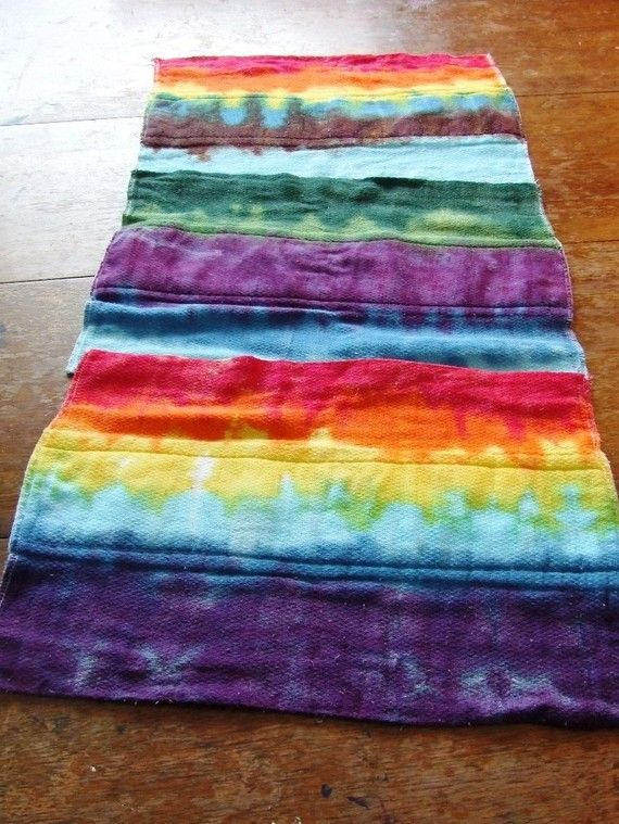 tie dye burp cloths- my sister made some of these.