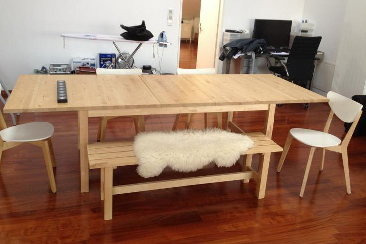 Ikea Table With Norden Bench - Google Search | Ikea | Pinterest