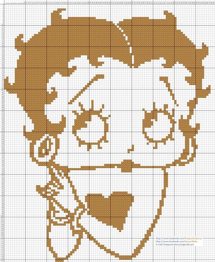 Encontrado en Pinterest  Betty+Boop+punto+de+cruz.jpg (1314×1600)