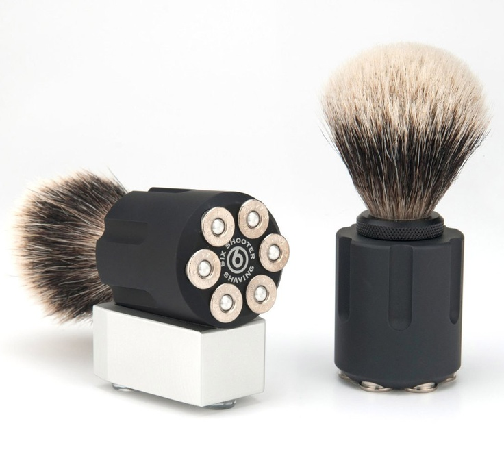 Six Shooter Shave Brushes - The Green Head
