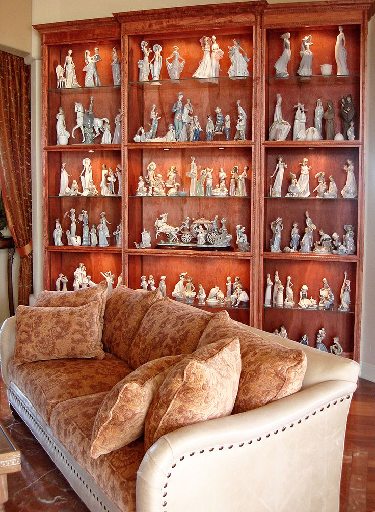 Displaying a Lladro Collection Favorite Interiors and