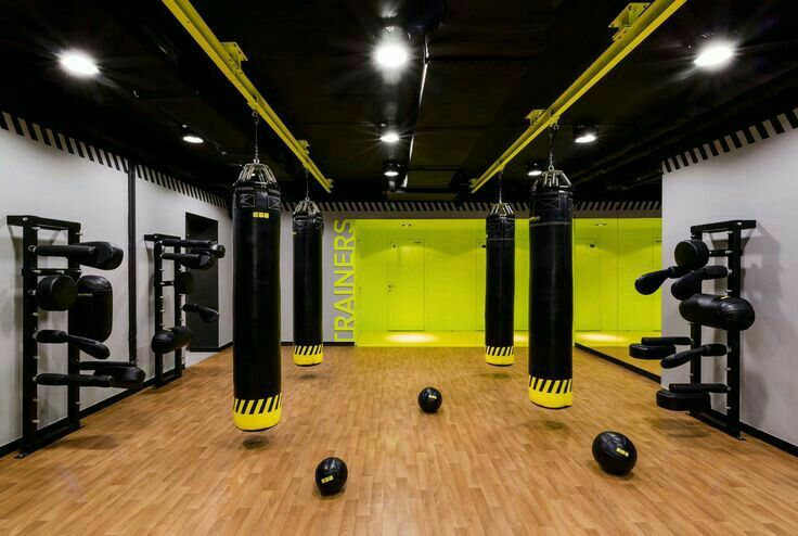 Gym boxing spaces colours new trends vip training in gym