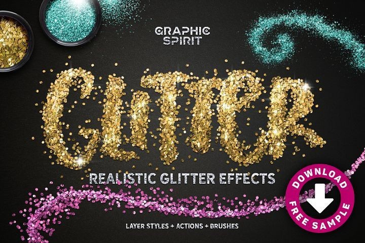 Realistic Glitter Effect TOOLKIT from DesignBundles.net, graphic design, templates, resources, products, inspiration,