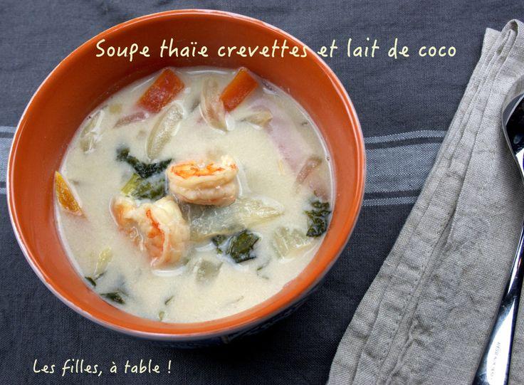 Soupe thaïe aux crevettes et lait de coco