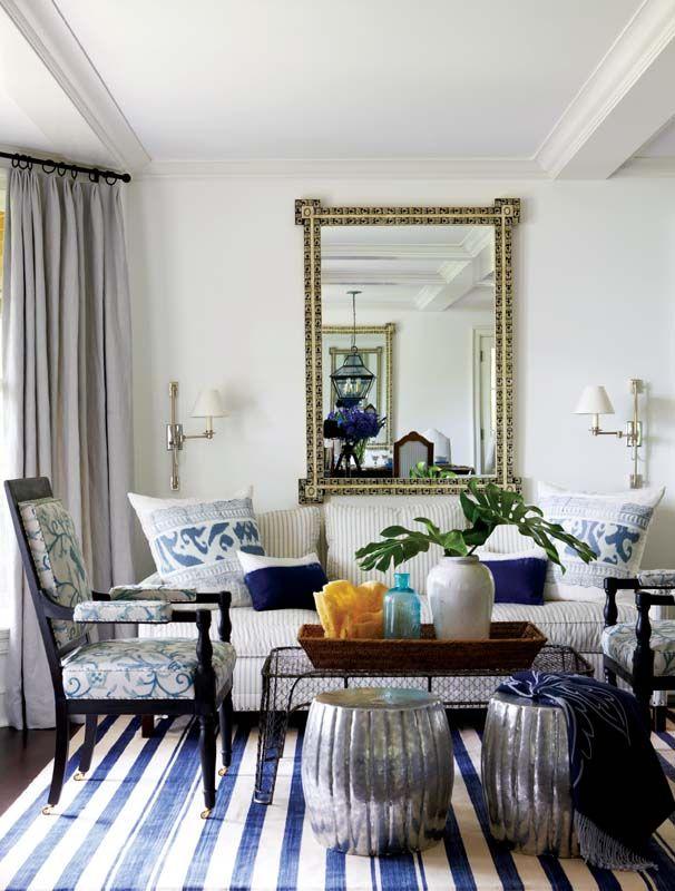 Madeline Weinrib Blue Vice Cotton Carpet Interior Design Anne Miller Photo Michael Partenio