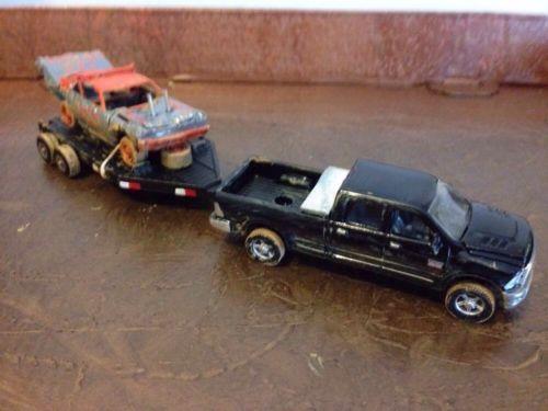Custom 1/64 Towing Set Demolition Derby Greenlight Impala ERTL  Dodge DCP DIO
