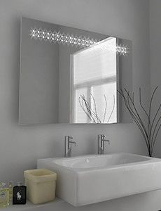 Ione Led Bathroom Mirror With Sensor Demister Pad And Shaver Socket Size X Mm Product Code