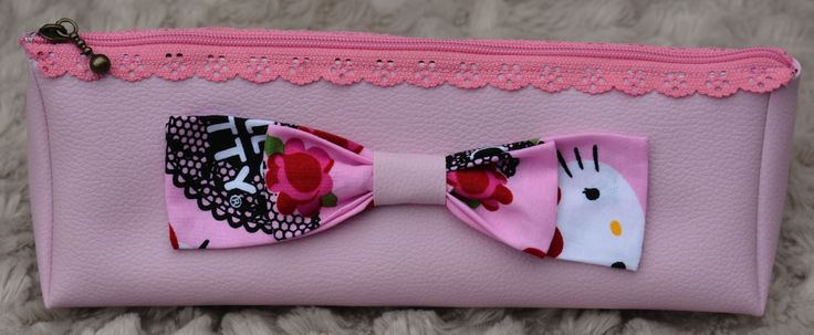 Hello Kitty Inspired Pencil Case/Cosmetic Bag    https://www.etsy.com/uk/shop/Thimbles1?ref=hdr_shop_menu
