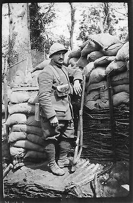 WWI Chasseur du 18e BCP en tenue de combat à ECHELLE St AURIN près ROYE 1916