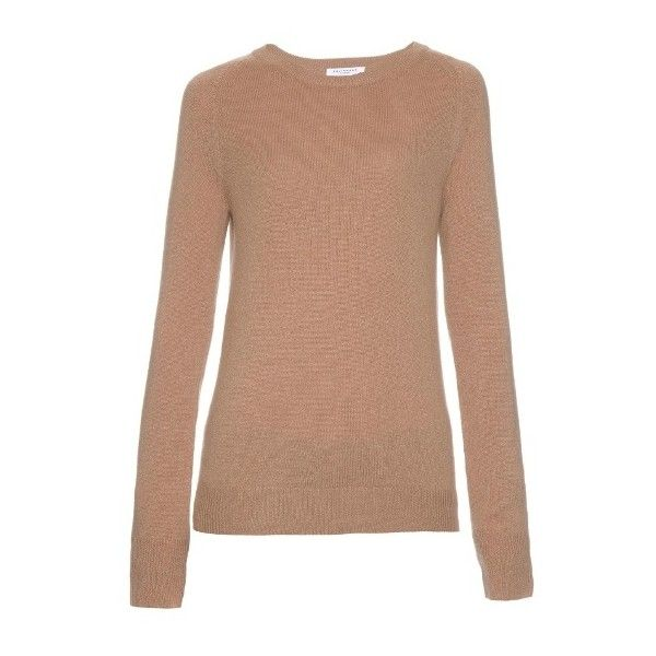 Equipment Sloane cashmere sweater ($280) ❤ liked on Polyvore featuring tops, sweaters, camel crew neck sweater, slim fit crew neck sweater, crew neck sweaters, cashmere crew neck sweater and beige top