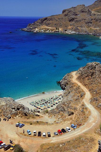 Ammoudaki beach in Crete island, Greece
