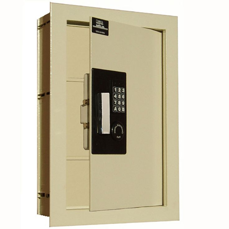 In Wall Safe keeps your valuables secure in a flush mount format which you can hide behind a cabinet or mirror.