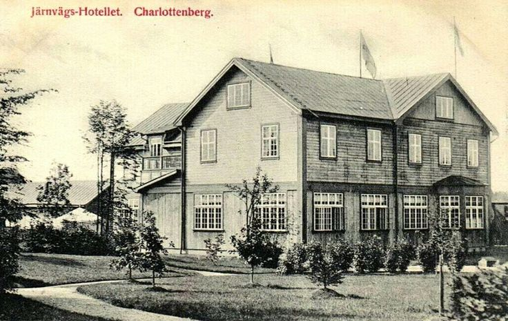 Värmland Eda kommun Charlottenberg Järnvägshotellet stämplat 1909