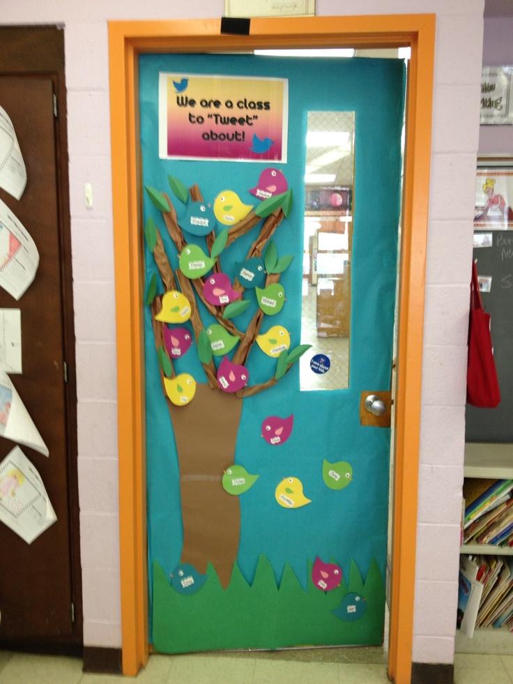 Spring classroom door idea