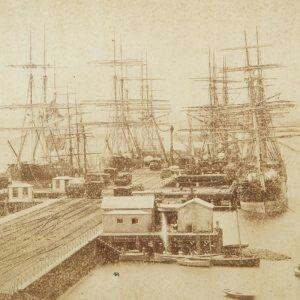 Railway Pier in Williamstown,Victoria in 1870