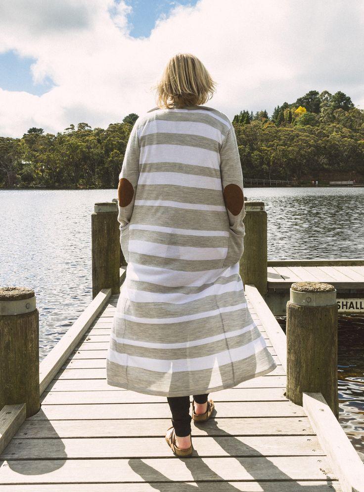 Binny - Long Island Wool Stripe Cardigan