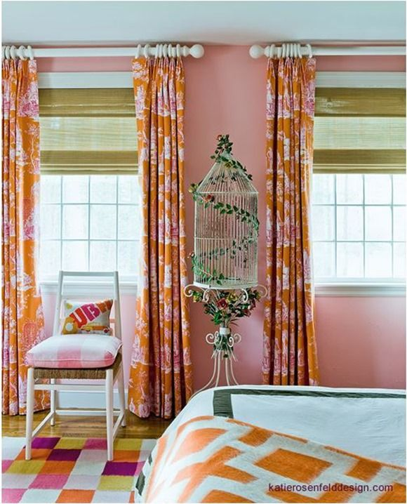 incredible hot pink orange bedroom | 17 Best images about orange and pink rooms on Pinterest ...