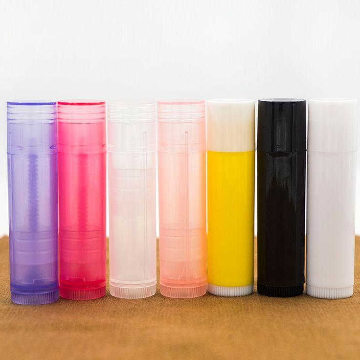 10 Unids/lote 5g 5 ml Tubo de Lápiz Labial Contenedores Bálsamo labial Envases Cosméticos Vacíos Loción Contenedor Viajes barra de Pegamento Transparente botella