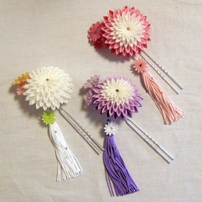 Inspiration...Kanzashi hair accessory