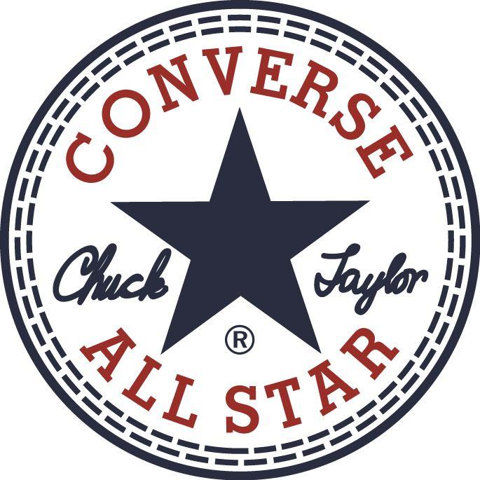 Converse All Star Hightop Black Shoe Logo In White