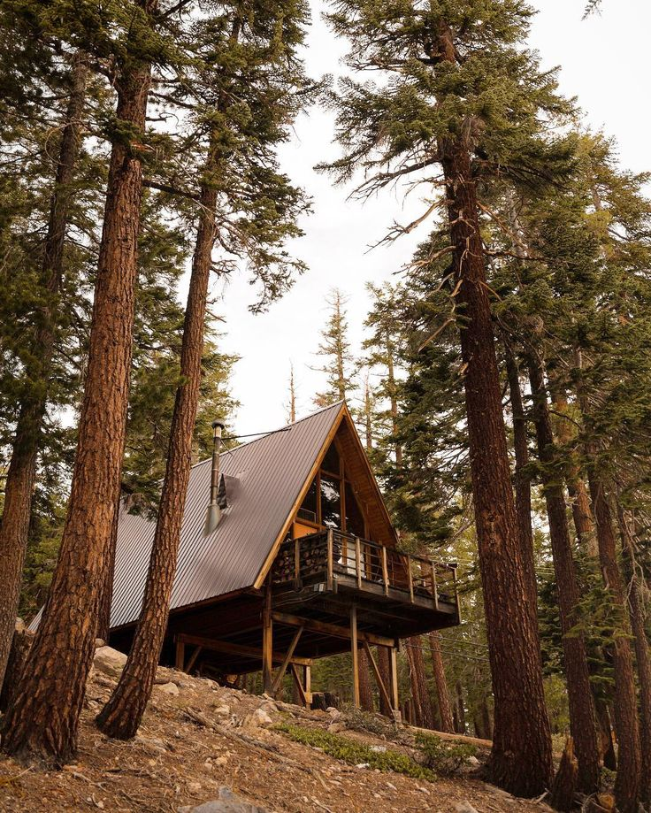 Two Hillside Cabins In The Trees By Feldman Architecture: 215 Best Cabin On Hillside Images On Pinterest