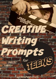 Write one-syllable-word stories, turn an experience into a movie synopsis, and write from new points of view with these creative writing prompts for teens writing, writing ideas, creative writing ideas Blog Topics