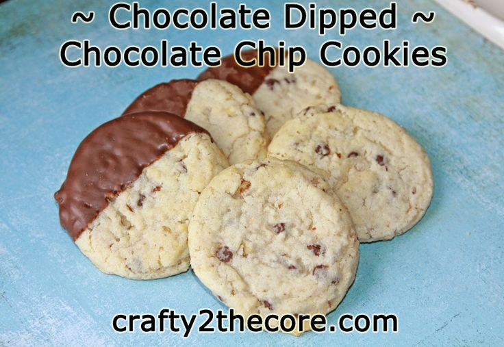 Chocolate-Dipped Choc. Chip & White Choc. Chip Macadamia Nut Cookies ...