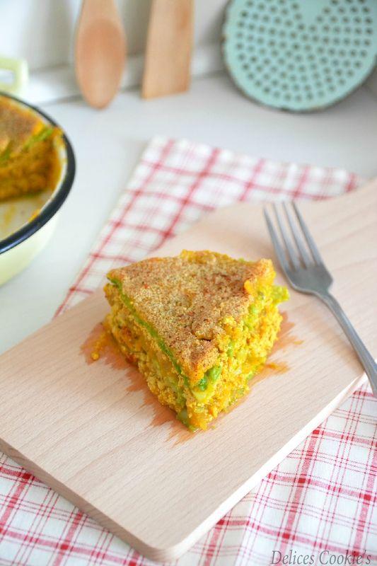 Delice Cookie's  : Lasagnes IG bas vegan potimarron chou vert tofu