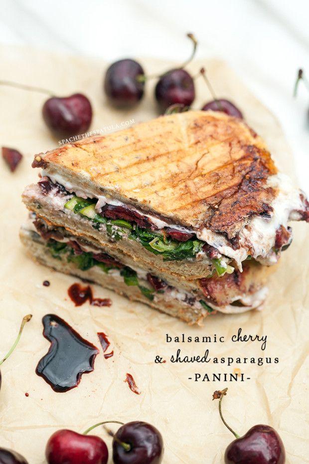 Balsamic Cherry and Shaved Asparagus Panini | spachethespatula.com # ...
