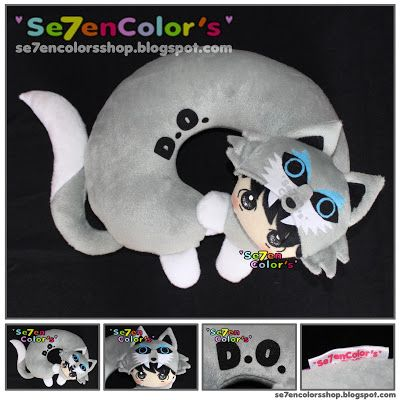 D.O. of EXO -- Neck Pillow Wolf Ver