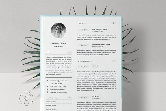 Resume Template for MS Word, 5 Pages by Leo Resume on @creativemarket