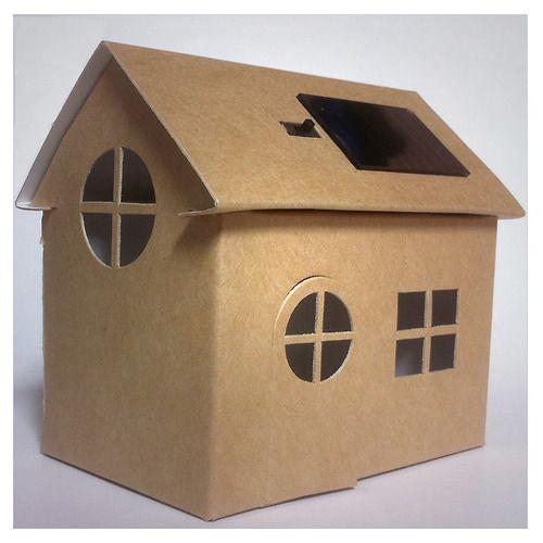 Casagmi - kartonnen huisje met zonnepaneel   Karton   Interieurdecoratie
