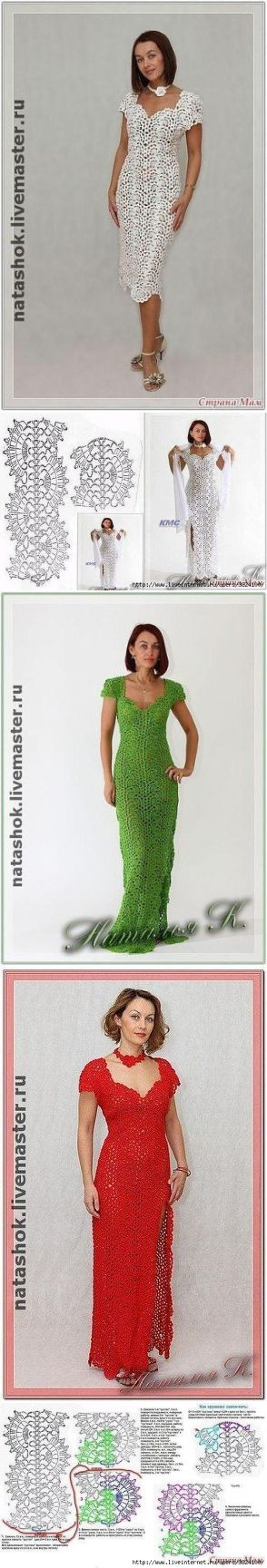 Красивейшее ажурное платье со схемой