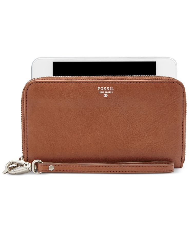 Fossil Sydney Leather Zip Phone Wallet
