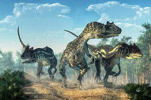 Digital Art - Allosauruses by Daniel Eskridge
