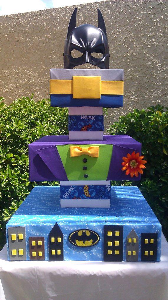Batman Cupcake Stand | Custom Inspired Batman Cupcake Stand by SweetTreatStands on Etsy