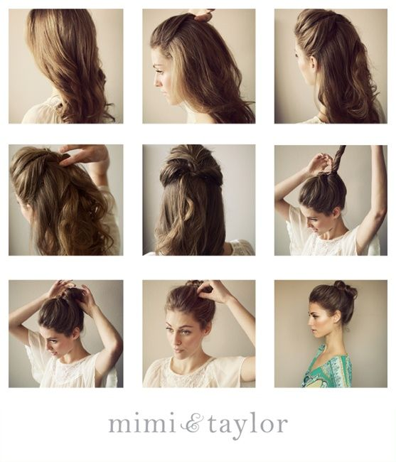 DIY Undone Bun (also: how to keep a little volume on top w/o the bun flattening your hair)