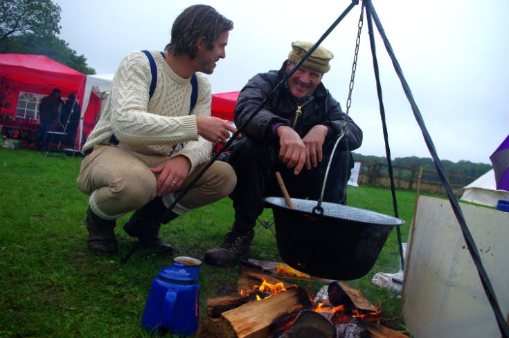 James Strawbridge talking to Rob about this Venison and damson paprikash