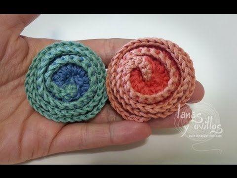 Tutorial Flor Crochet o Ganchillo Flower - YouTube                                                                                                                                                                                 Más