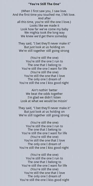 Shania Twain lyrics
