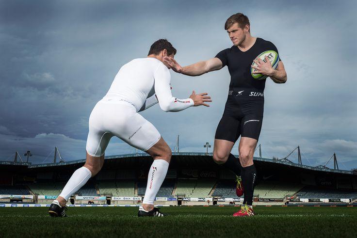 Mitch Inman tackles Jason Woodward - Rugby Union