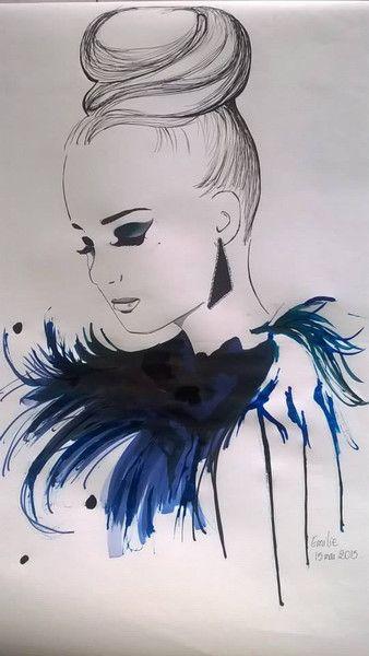 peinture+aquarelle+feutre+et+encre+de+EmyPaint'+sur+DaWanda.com